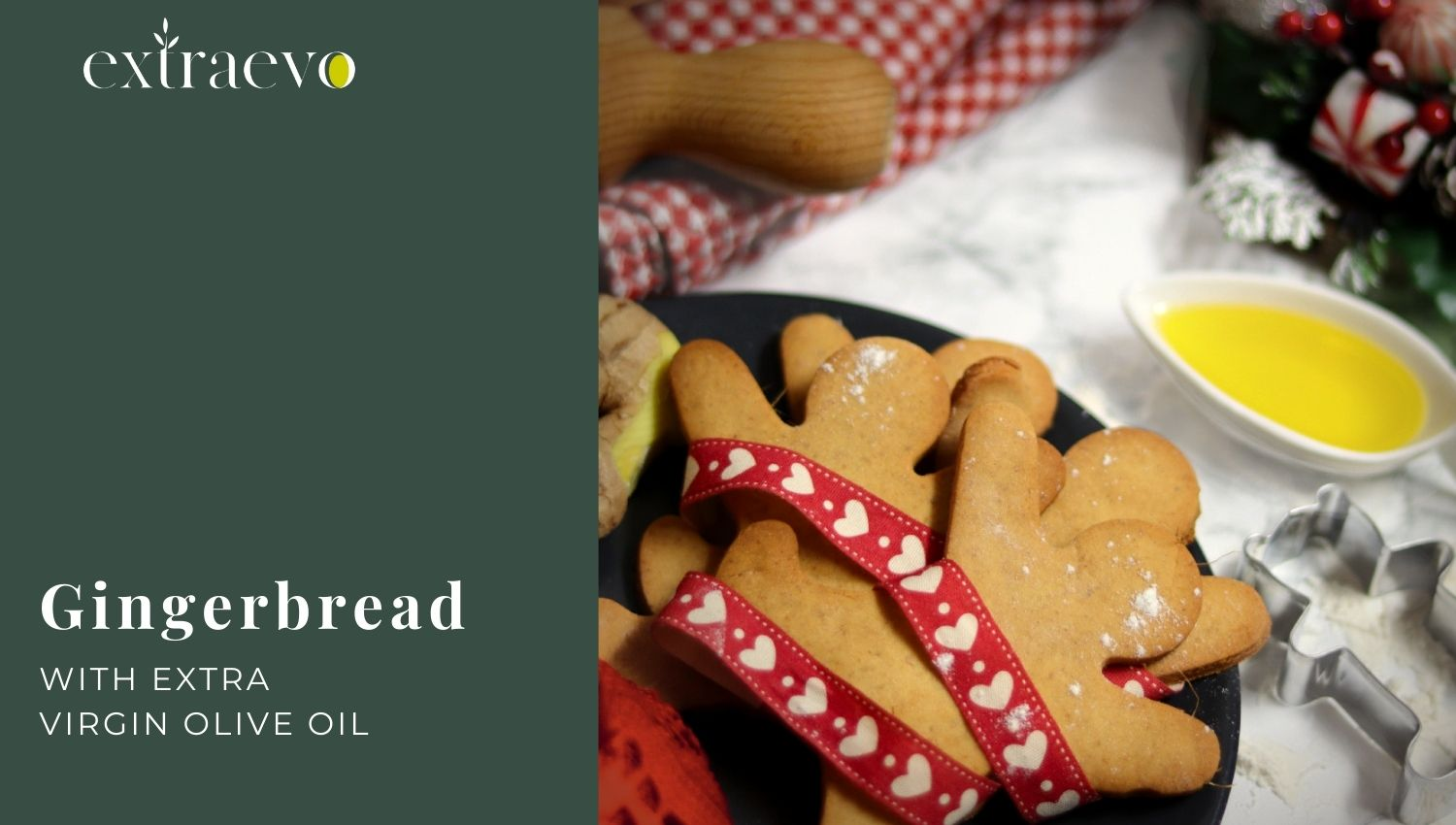 Gingerbread Cookies with Extra Virgin Olive Oil