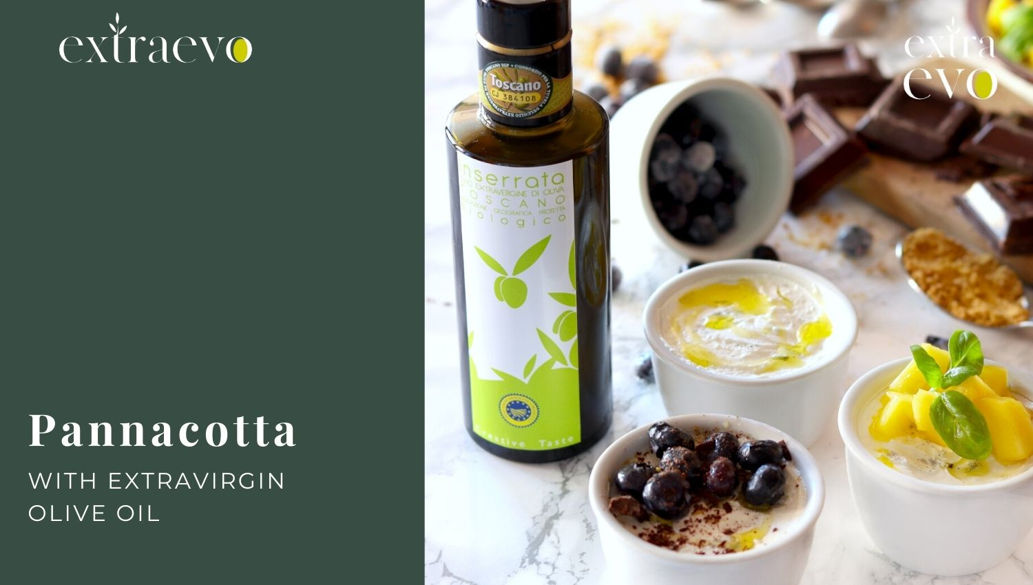 Panna cotta trio with extra virgin olive oil