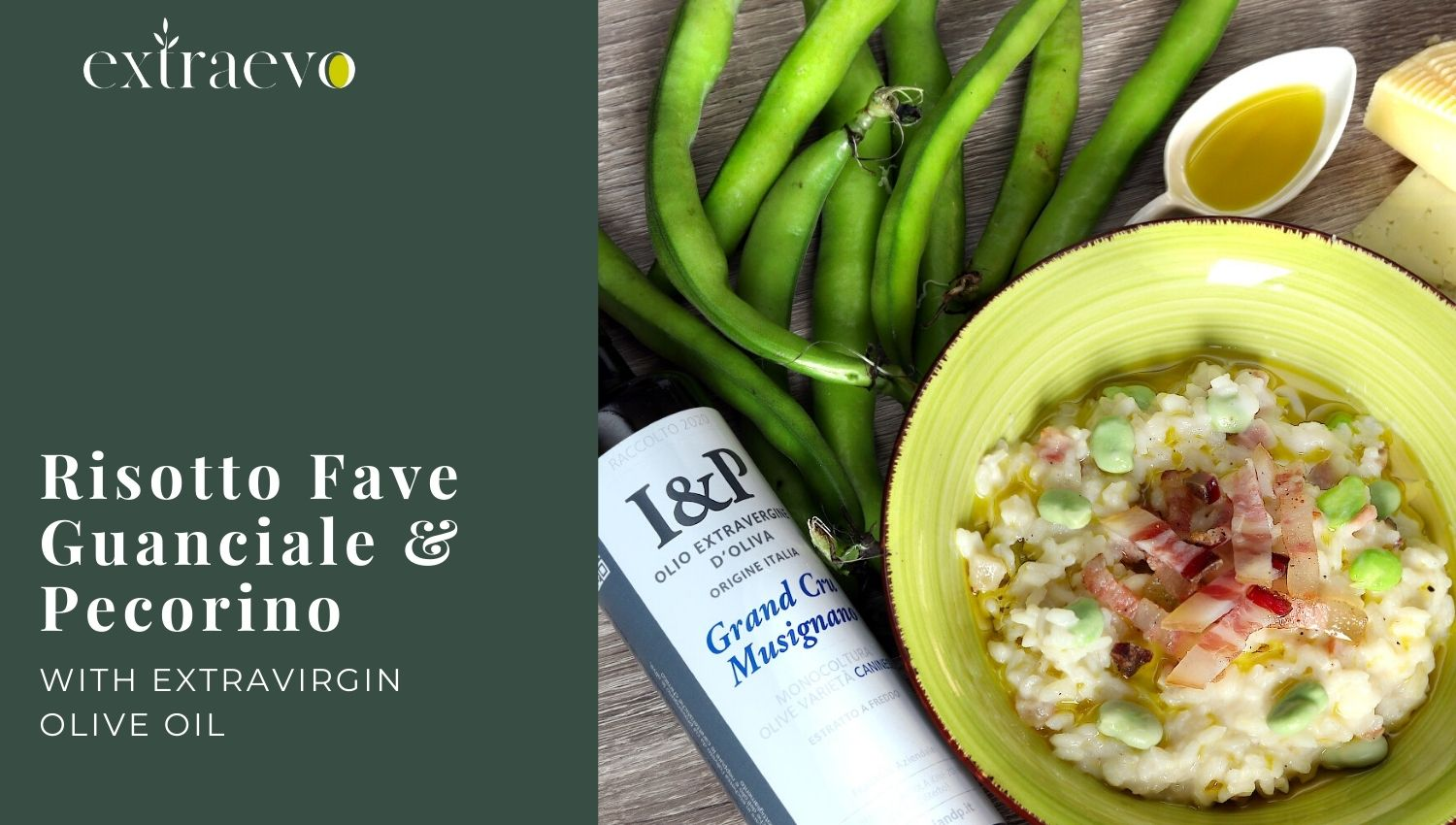 Risotto with fava beans, guanciale and Pecorino cheese