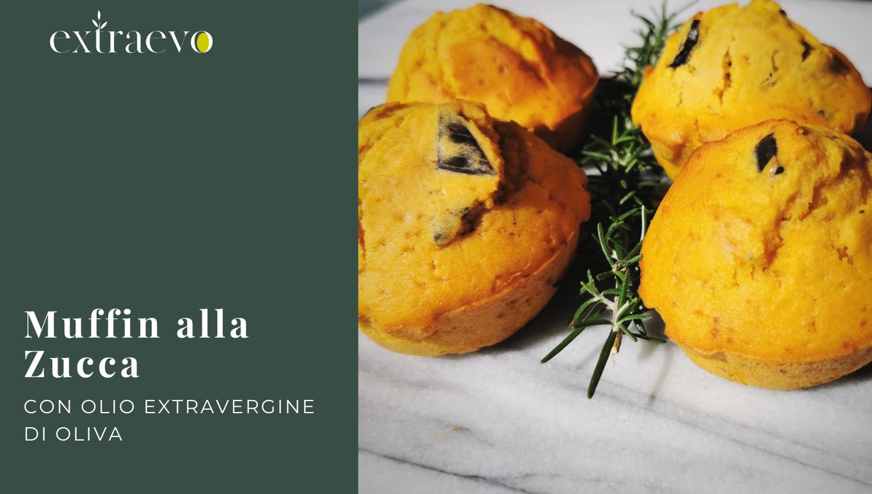 Muffin alla Zucca con Olio Extravergine di Oliva